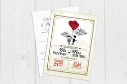 A6 Flat Wedding Invitation Ref.: A6FLT004