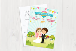 A6 Flat Wedding Invitation Ref.: A6FLT005