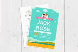 A6 Flat Wedding Invitation Ref.: A6FLT006