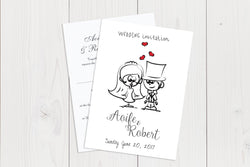 A6 Flat Wedding Invitation Ref.: A6FLT008