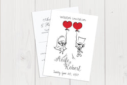 A6 Flat Wedding Invitation Ref.: A6FLT009