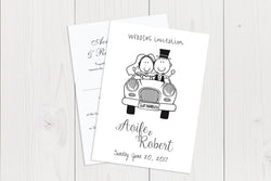 A6 Flat Wedding Invitation Ref.: A6FLT011