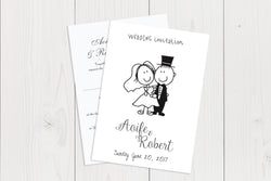 A6 Flat Wedding Invitation Ref.: A6FLT012