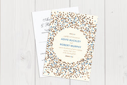 A6 Flat Wedding Invitation Ref.: A6FLT013