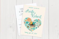 A6 Flat Wedding Invitation Ref.: A6FLT014