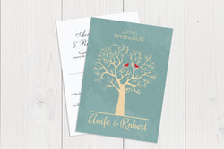 A6 Flat Wedding Invitation Ref.: A6FLT015