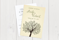 A6 Flat Wedding Invitation Ref.: A6FLT019