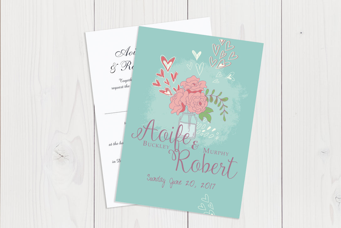 A6 Flat Wedding Invitation Ref.: A6FLT022