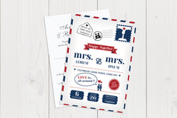 A6 Flat Wedding Invitation Ref.: A6FLT024