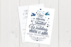A6 Flat Wedding Invitation Ref.: A6FLT025