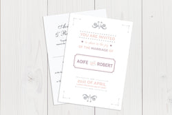 A6 Flat Wedding Invitation Ref.: A6FLT026