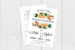 A6 Flat Wedding Invitation Ref.: A6FLT027