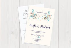A6 Flat Wedding Invitation Ref.: A6FLT028