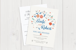 A6 Flat Wedding Invitation Ref.: A6FLT029