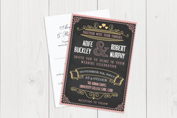 A6 Flat Wedding Invitation Ref.: A6FLT031