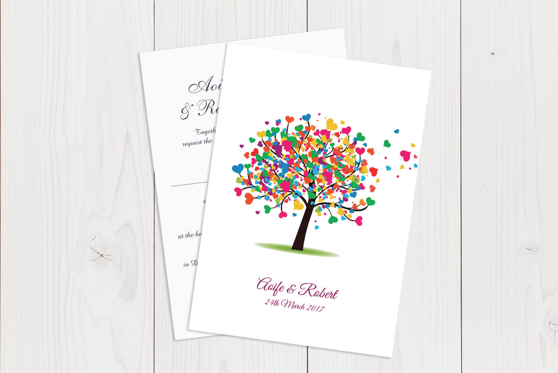A6 Flat Wedding Invitation Ref.: A6FLT033