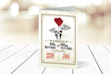 A6 Folded Wedding Invitation Ref.: A6F002