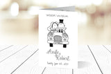 A6 Folded Wedding Invitation Ref.: A6F009