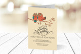 A6 Folded Wedding Invitation Ref.: A6F014