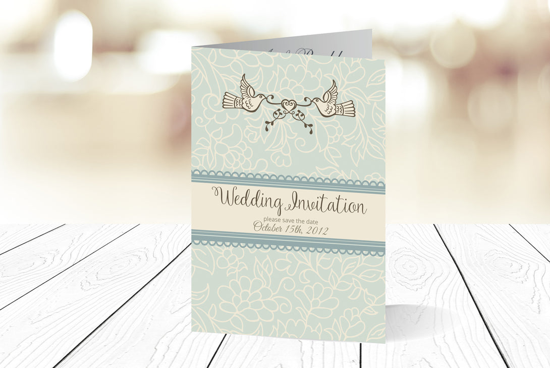 A6 Folded Wedding Invitation Ref.: A6F016