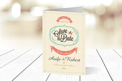 A6 Folded Save The Date Ref.: A6FSD001