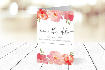A6 Folded Save The Date Ref.: A6FSD002