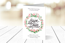 A6 Folded Save The Date Ref.: A6FSD003