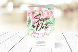 A6 Folded Save The Date Ref.: A6FSD004
