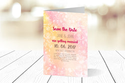 A6 Folded Save The Date Ref.: A6FSD006