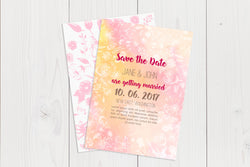 A6 Flat Save The Date Ref.: A6FLTSD001