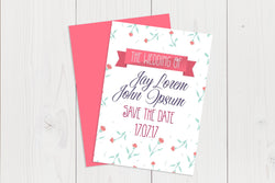 A6 Flat Save The Date Ref.: A6FLTSD002