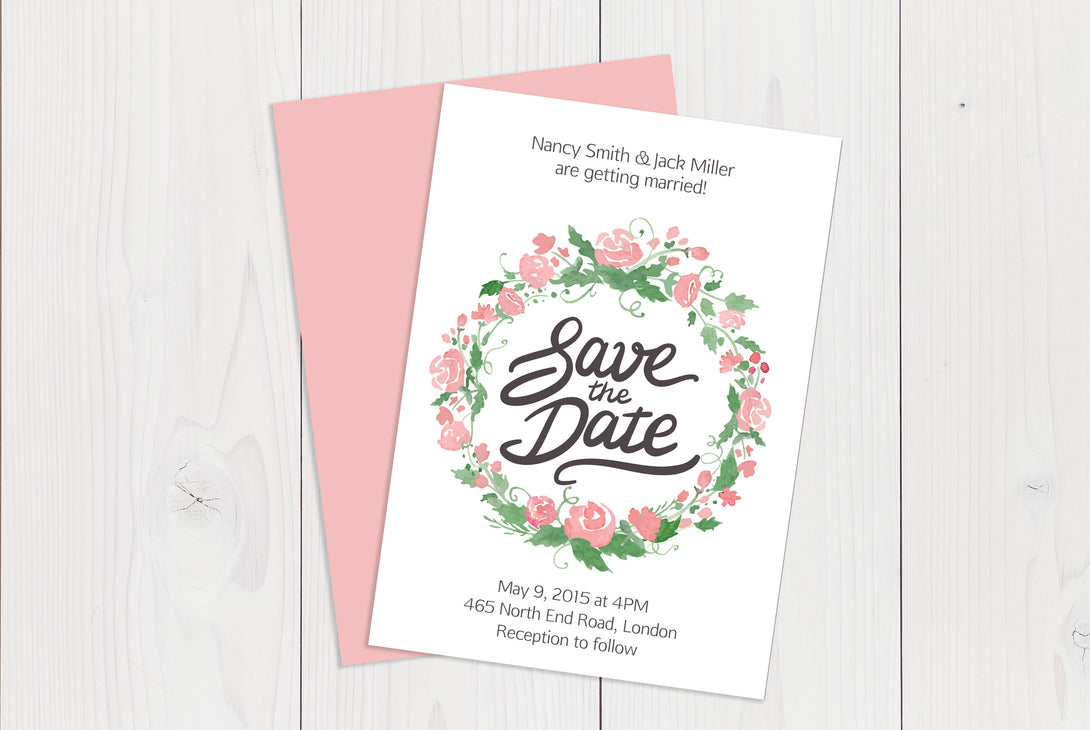 A6 Flat Save The Date Ref.: A6FLTSD004