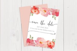 A6 Flat Save The Date Ref.: A6FLTSD005