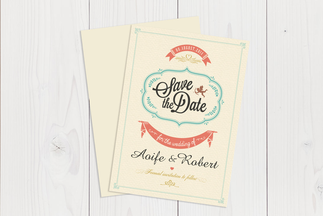A6 Flat Save The Date Ref.: A6FLTSD006
