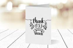 Thank You Cards Portrait Folding Ref.: TYPRTFLD002