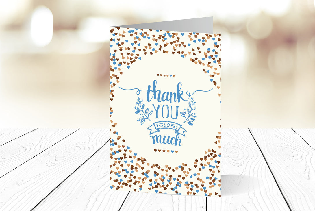Thank You Cards Portrait Folding Ref.: TYPRTFLD004