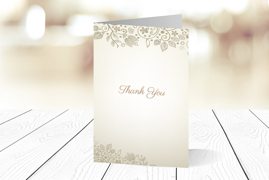 Thank You Cards Portrait Folding Ref.: TYPRTFLD005