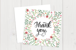 Thank You Cards Square Flat Ref.: TYSQFLT001