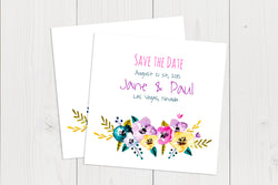 Flat Squared Save The Date Ref.: SQFSD003