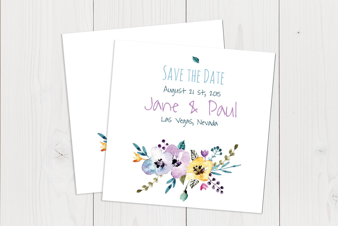 Flat Squared Save The Date Ref.: SQFSD005