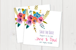 Flat Squared Save The Date Ref.: SQFSD006