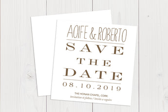 Flat Squared Save The Date Ref.: SQFSD008