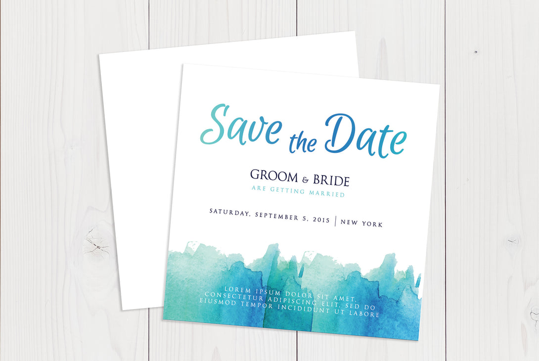 Flat Squared Save The Date Ref.: SQFSD009