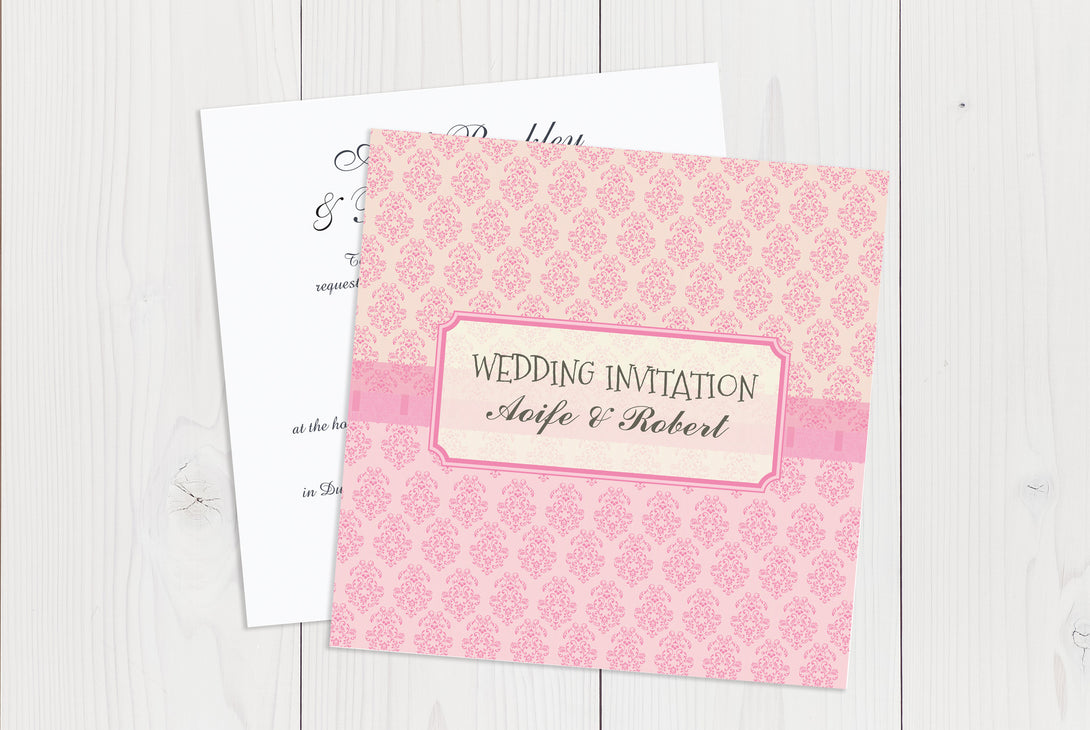 Flat Squared Wedding Invitation Ref.: SQF002