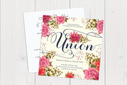 Flat Squared Wedding Invitation Ref.: SQF004