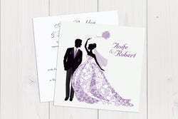 Flat Squared Wedding Invitation Ref.: SQF005