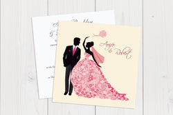 Flat Squared Wedding Invitation Ref.: SQF006