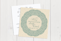 Flat Squared Wedding Invitation Ref.: SQF007