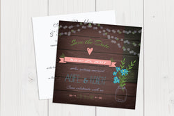 Flat Squared Wedding Invitation Ref.: SQF009