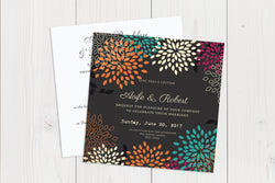 Flat Squared Wedding Invitation Ref.: SQF012